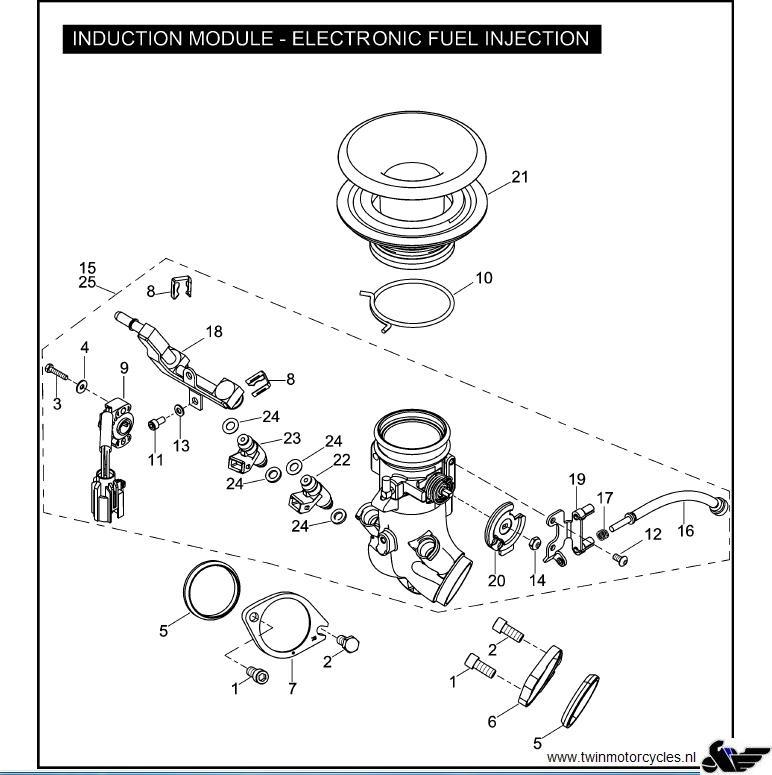 Rear cylinder intake flange