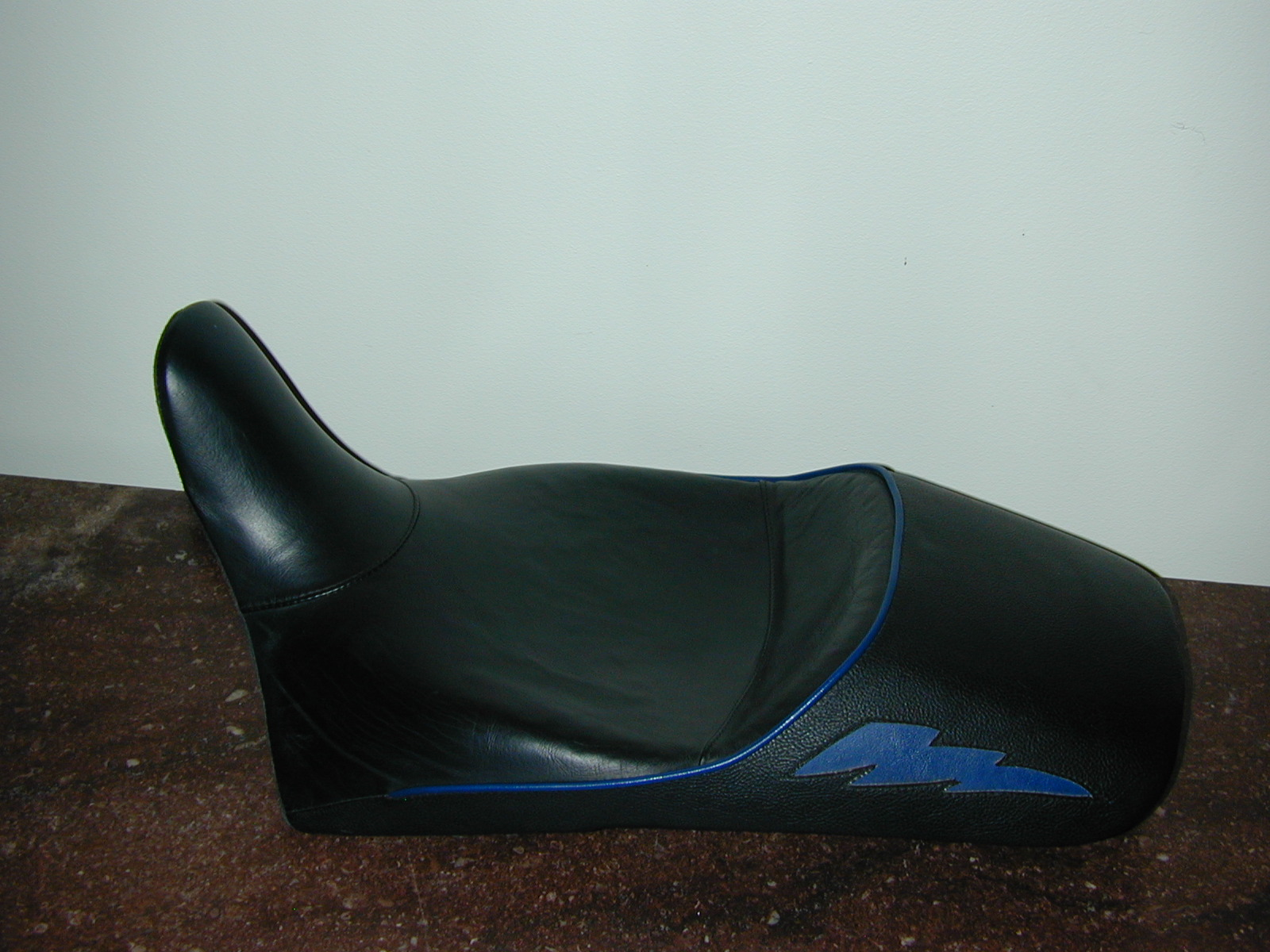 S2 Corbin with Blue Piping & Blue Flames