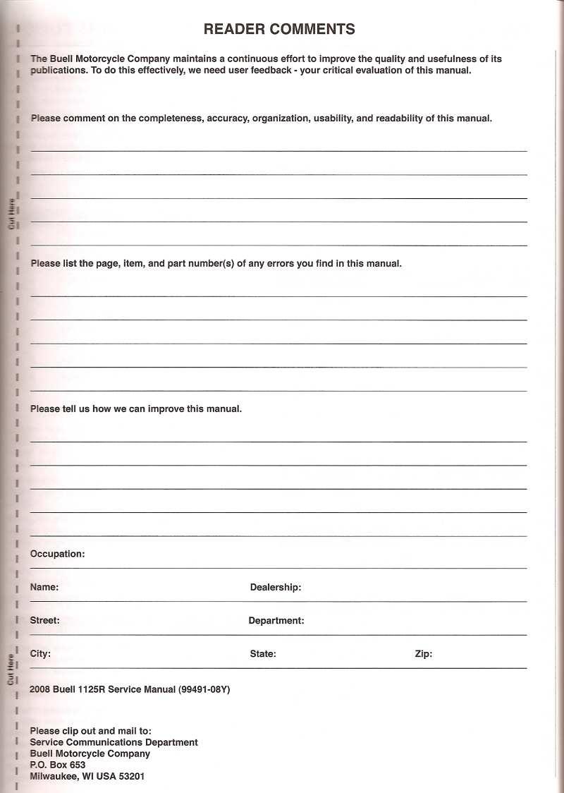 2008 1125R Comment Form