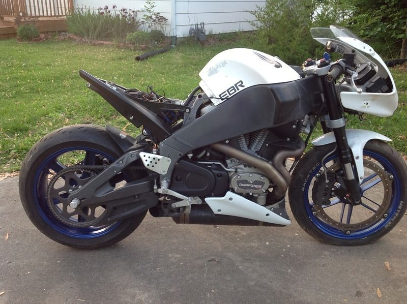 2008 Buell XB12R white with XBS tail