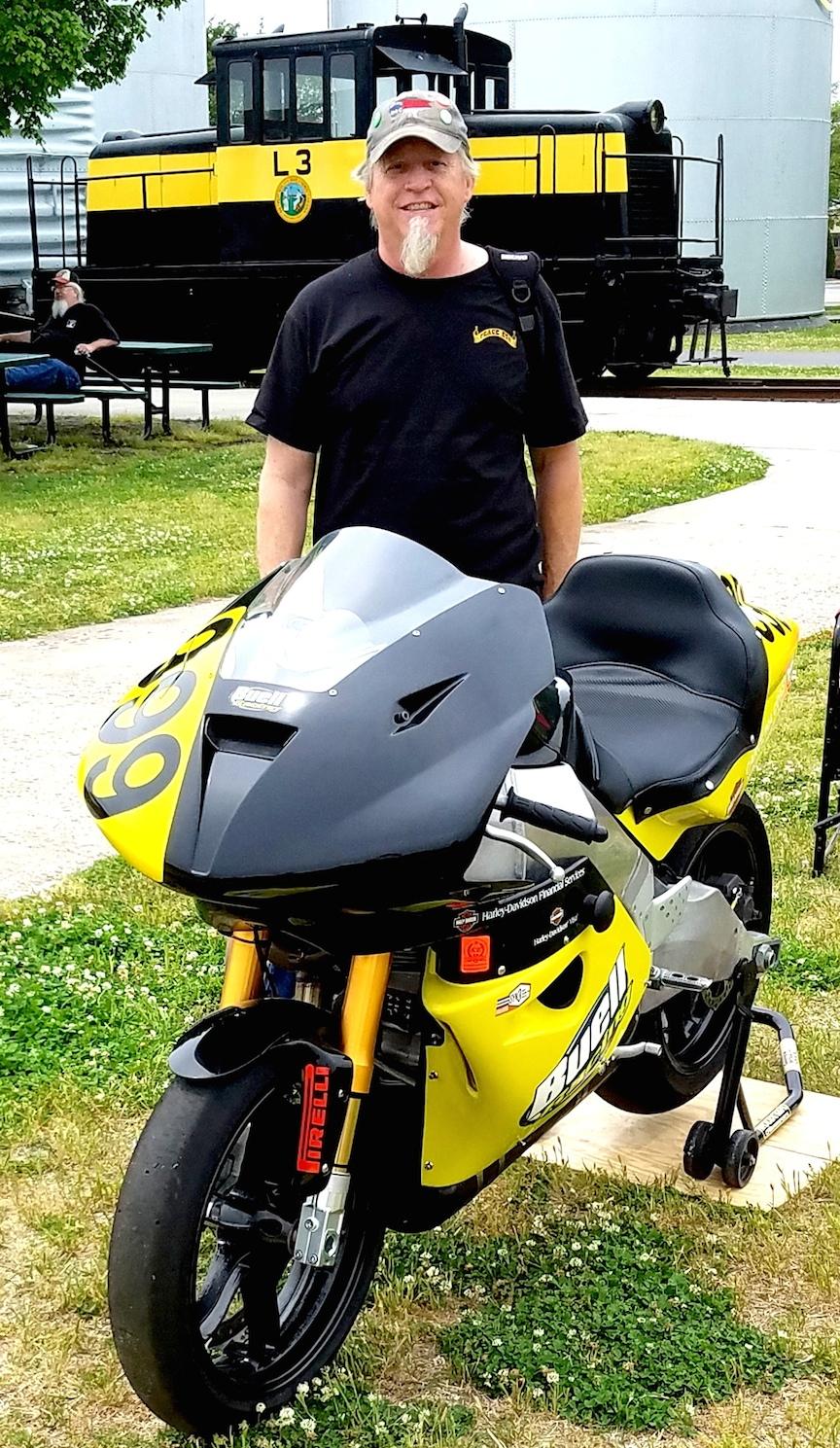 Bad weather biker at NCTM