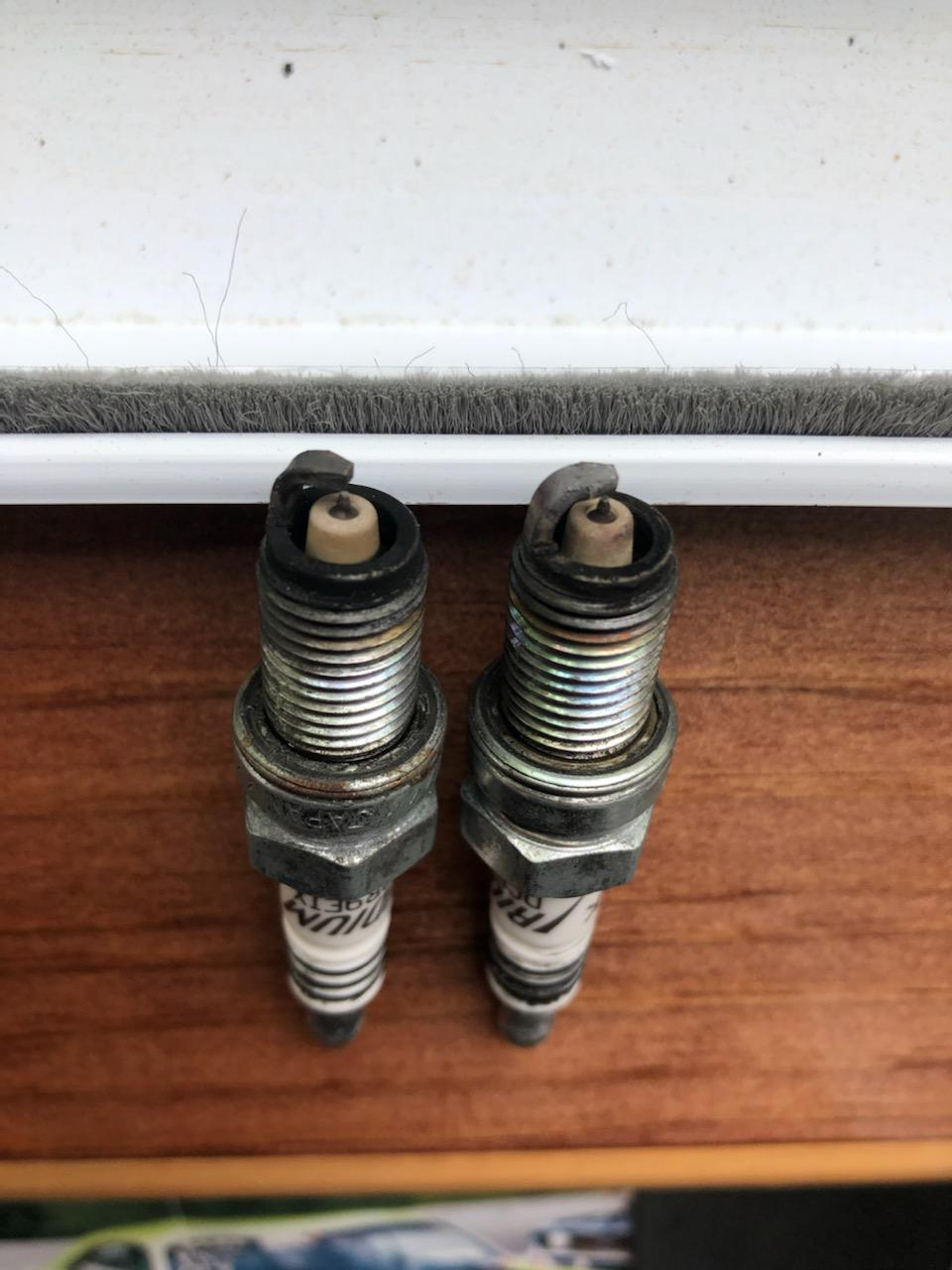 Left plug is the front plug