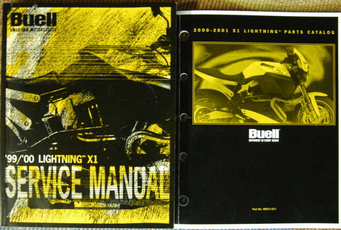 2000 X-1 Service and Parts Manuals