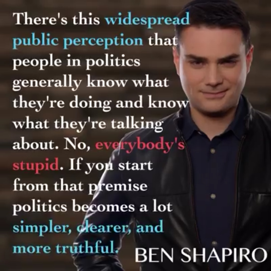 Shapiro stupid politicians