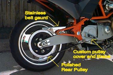 CNC HIGHLY POLISHED ALUMINIUM BOTTOM BELT GUARD FOR BUELL MOTORCYCLE